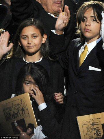 Michael Jackson's Children - Funeral 2009