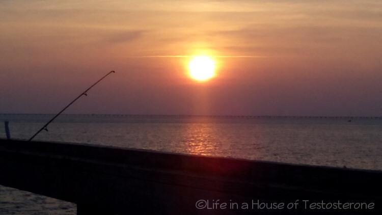 Sunset over Lynnhaven Pier
