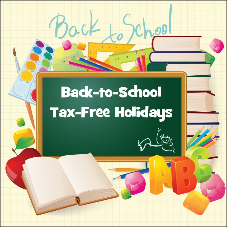 back to school tax free holidays