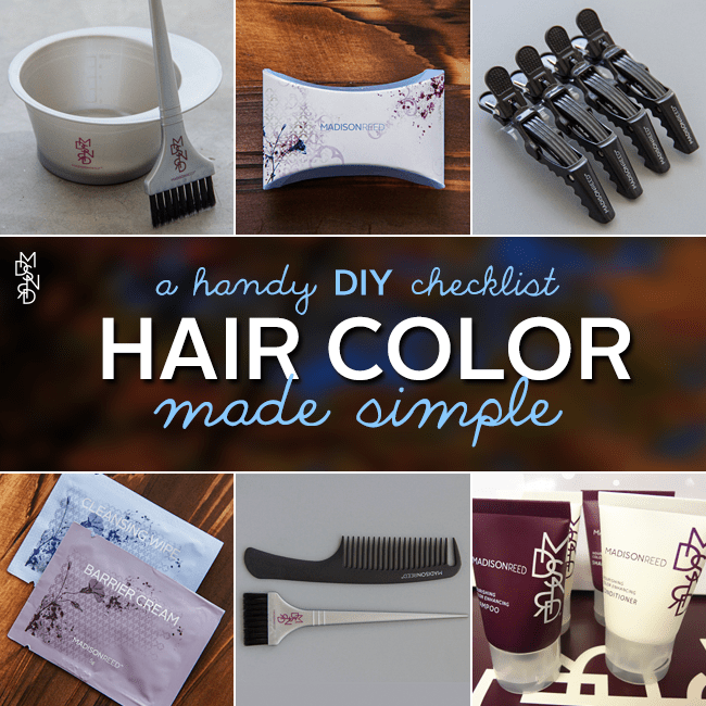 DIY Hair Color Checklist
