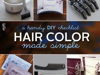 DIY Hair Color Checklist