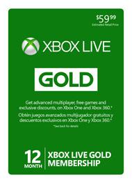 12 Month XBox Live Gold Membership on Sale thru 2/9/2015