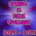 Spring is Here Giveaway Event 2/20 to 3/20/2015