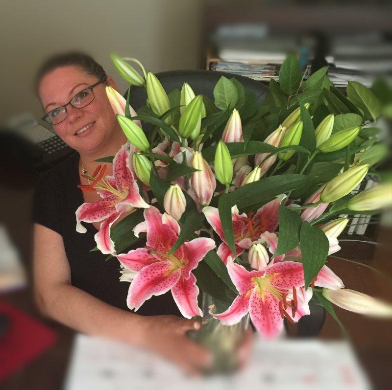 Stargazer Lilies Bouquet from ProFlowers - #CelebrateEveryMom - Brandy Peters Pryor