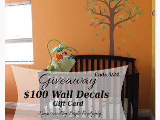 Style & Apply $100 Wall Decal Gift Card Giveaway