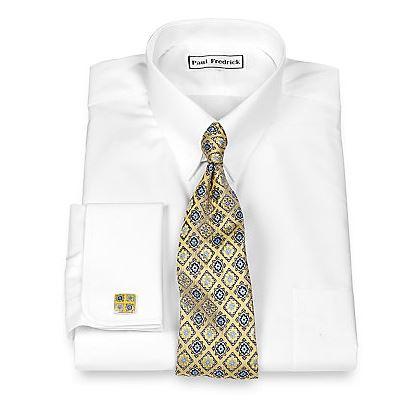 Paul Fredrick Luxury 140's Cotton Tab Collar French Cuff Dress Shirt