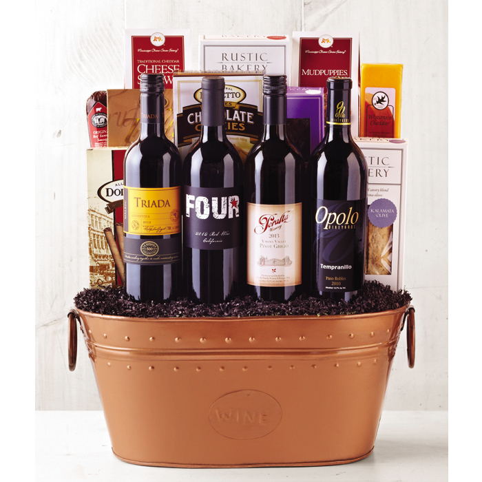 Ultimate Indulgence Gift Basket - Wine of the Month Club - $155.00