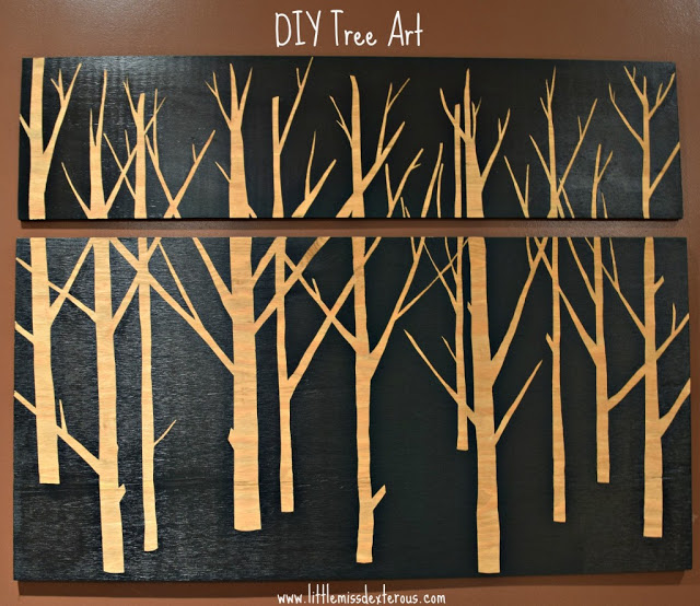 Week 28 Host Favorite - Kim U. selected the DIY Tree Wall Art from Little Miss Dexterous