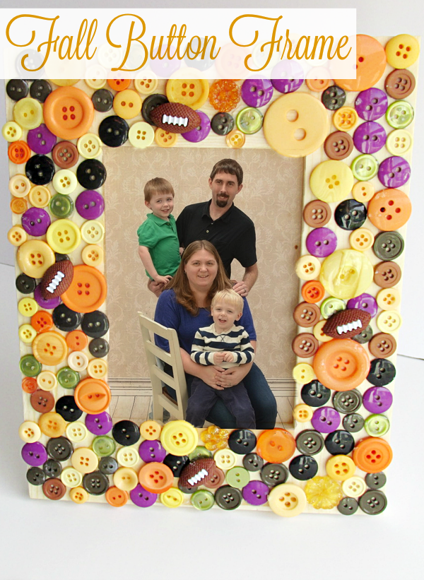 Fall Button Frame from Mom's Messy Miracles - Sunday's Best Week 45 Featured Blogger