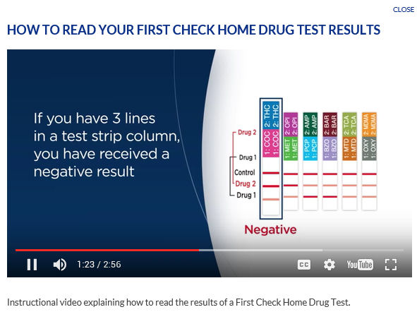 Read Your First Check® Home Drug Test Results