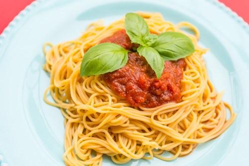 Recipe: Simple Vegan Chickpea Spaghetti