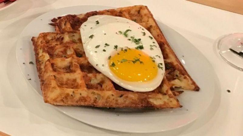 Herbed Parmesan Hash Brown Waffle Recipe