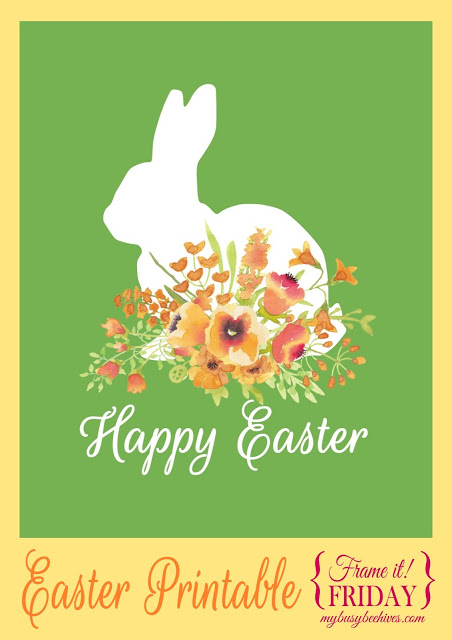 Week 118 Sunday's Best Favorite Theme Post - Happy Easter Printable from My Busy Beehives