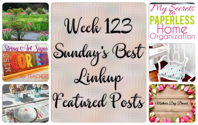 Week 123 Sunday's Best Linkup