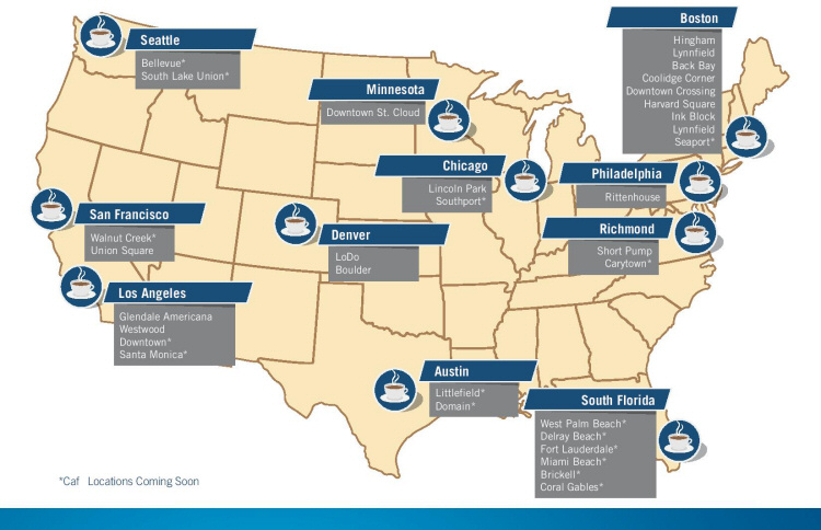Capital One Cafes Across the Country