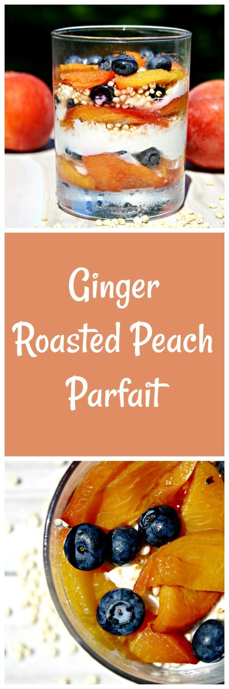 Week 136 Sunday's Best Featured Post - Ginger Roasted Peach Breakfast Parfaits from Looney for Food
