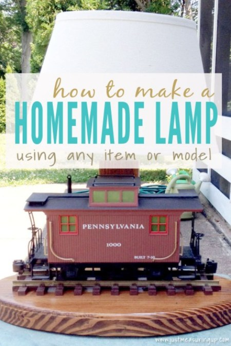 Week 136 Sunday's Best Featured Post - How to Make a Homemade Lamp Using Any Item or Model from Just Measuring Up