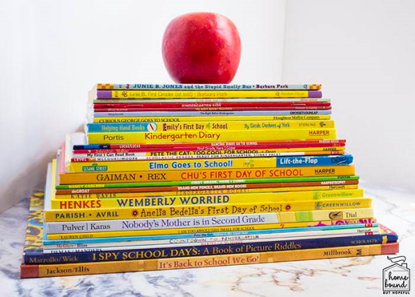Week 139 Sunday's Best Featured Back to School Theme Post - 40 Back to School Books for All Ages from Homebound But Hopeful