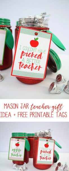 Week 139 Sunday's Best Featured Back to School Theme Post - Mason Jar Teacher Gift Ideas from Burlap and Blue
