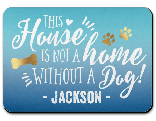 Home and Dog Pet Placemat from Shutterfly