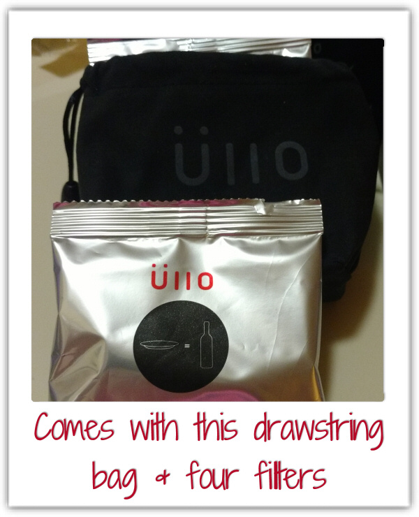 drawstring bag and filters