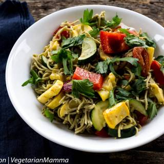 Roasted Vegetables with Pasta from Vegetarian Mamma