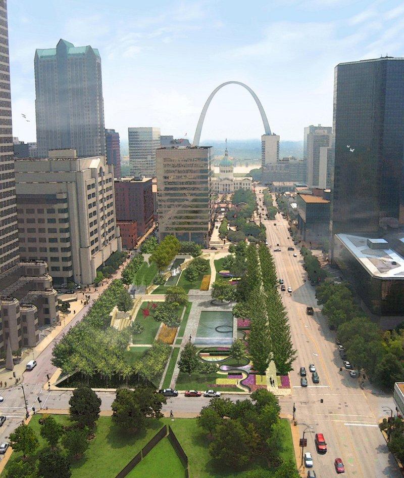 City Garden in St. Louis