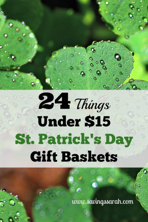 Week 165 24 Things Under $15 - St. Patrick's Day Gift Baskets from Saving Sarah