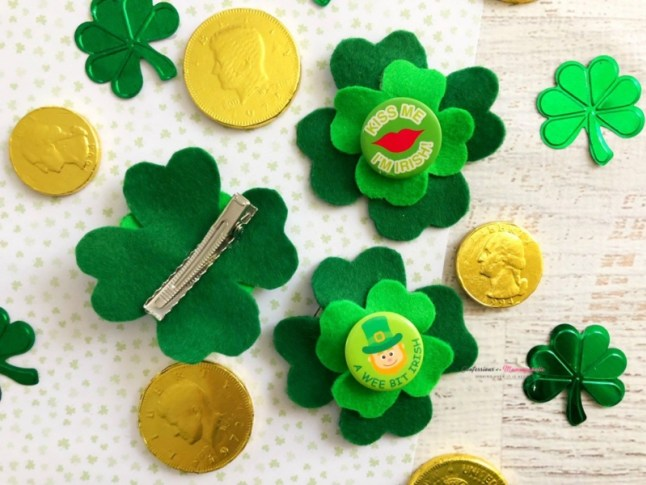 Week 165 DIY Four Leaf Clover Hair Pin from Janine Huldie