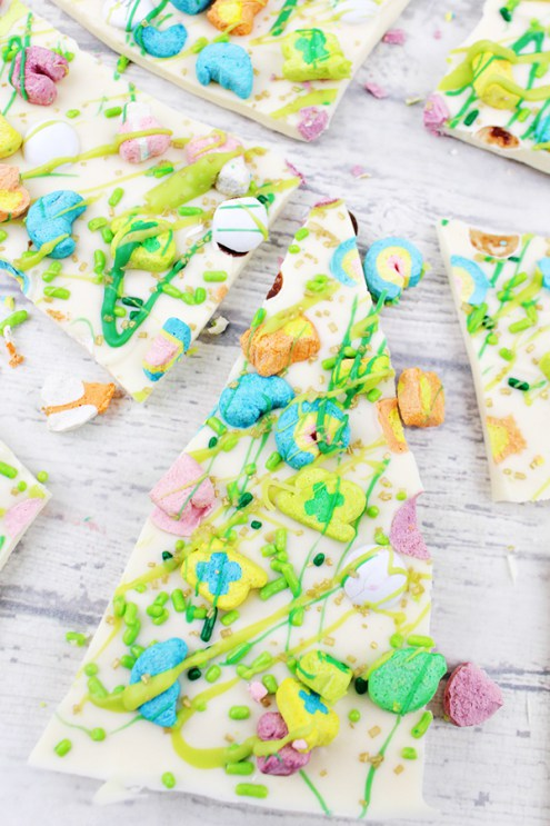 Week 165 Lucky Charms Marshmallows White Chocolate Bark from Home Cooking Memories