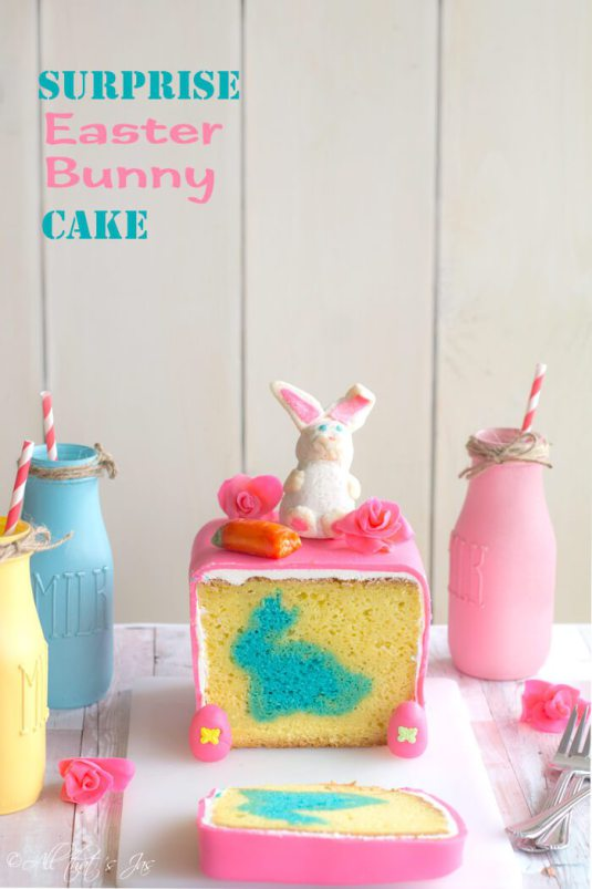 Week 165 Surprise Easter Bunny Cake from All That Jas