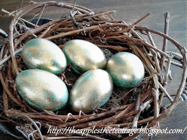 Week 170 5 Minute Spring Nest from Apple Street Cottage #spring #diy #homedecor