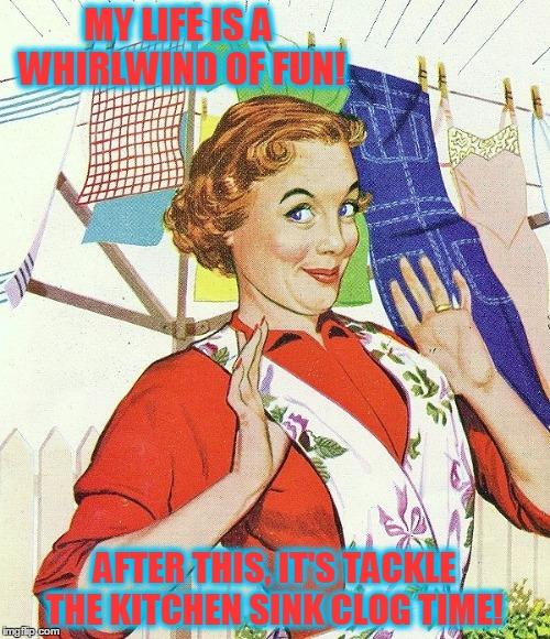 Mom Doing Housework