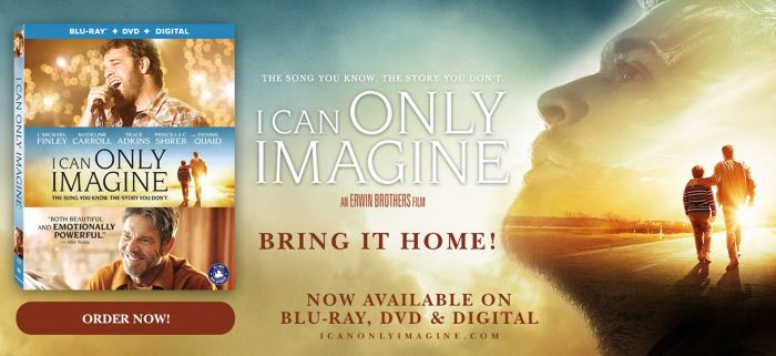 I Can Only Imagine: Available on DVD/Blu-Ray Now – #FlyBy