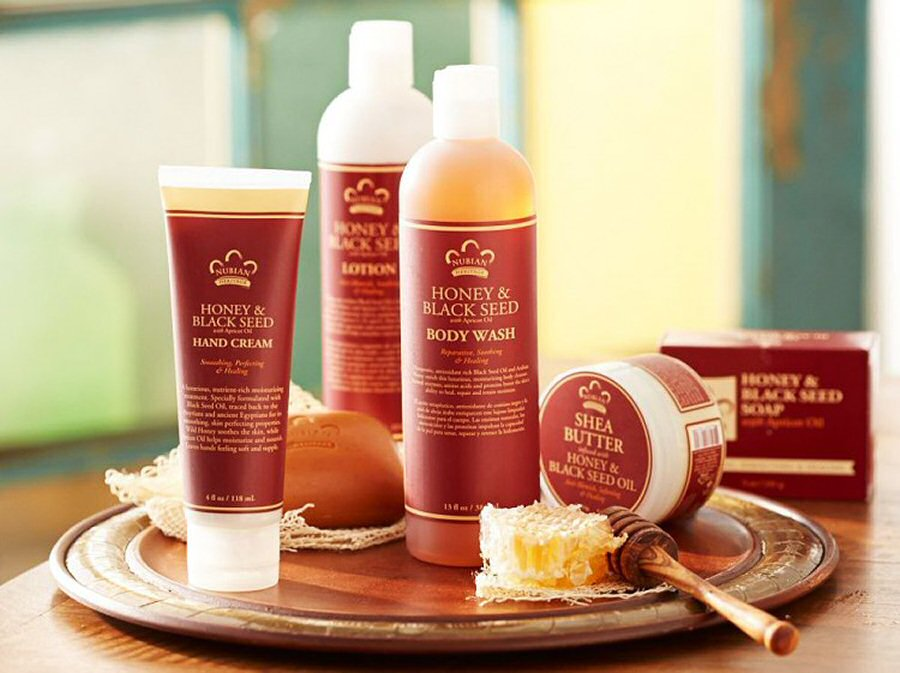 Nubian Heritage Bath and Body Collection - Honey and Black Seed with Apricot Oil