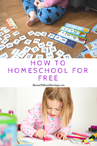 Week 189 - How to Homeschool for Free from Mama of Many Blessings