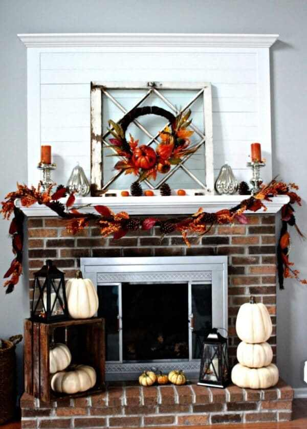 Week 191 - Rustic Fall Mantel Deco from Centsible Chateau
