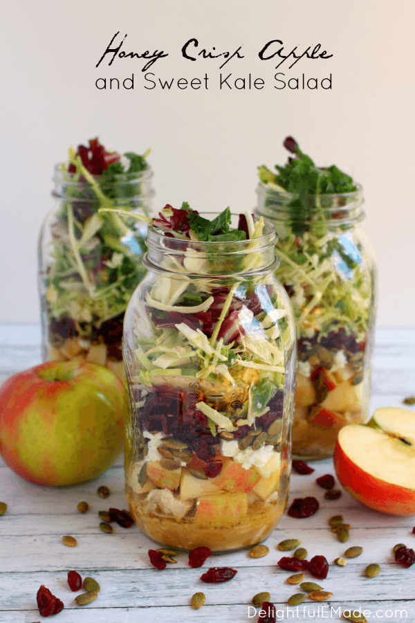 Week 192 - Honey Apple Crisp and Sweet Kale Salad from Delightful E Made
