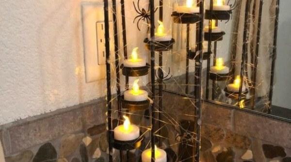 Week 196 - Halloween Cobweb Lanterns from Chas' Crazy Creations