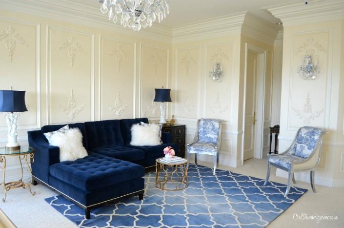 Blue velvet interior design trends