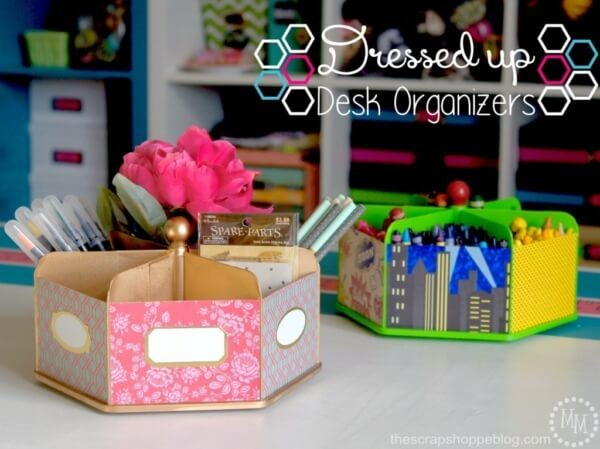 Week 209 - Dressed Up Desk Organizers from The Scrap Shoppe Blog