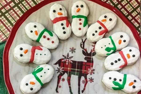 Week 209 - Snowman Nutter Butter Cookies from Wondermom Wannabe
