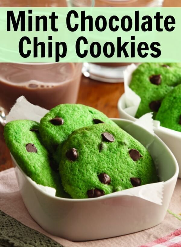 Week 217 - Mint Chocolate Chip Cookies from Mommy Evolution
