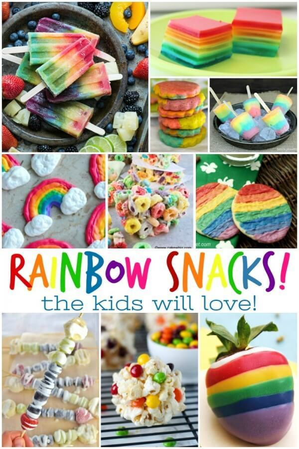 Week 217 - Rainbow Snacks for the Kids from Busy Being Jennifer