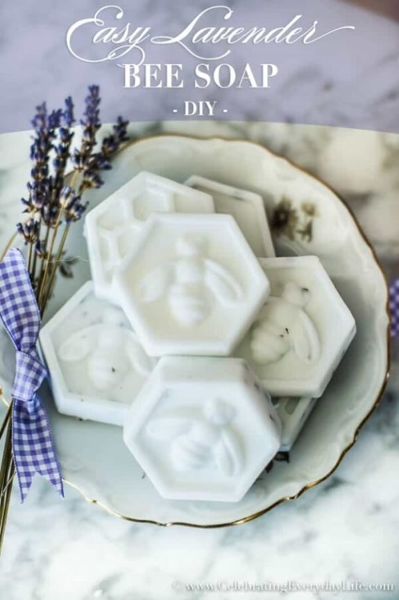 Week 239 DIY Lavender Bee Soap from Celebrating Every Day Life