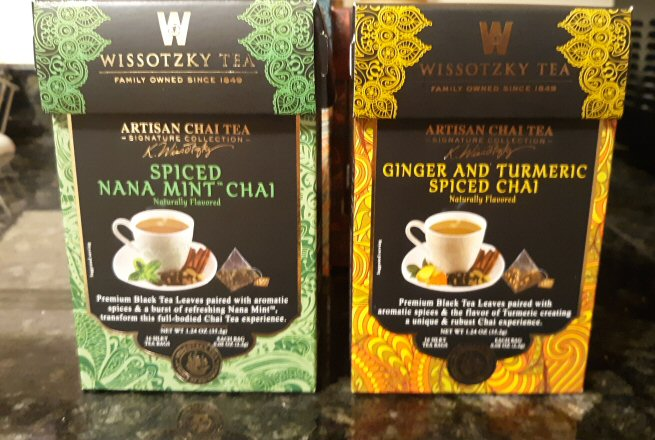 Spiced Nana Mint Chai and Ginger and Turmeric Spiced Chai