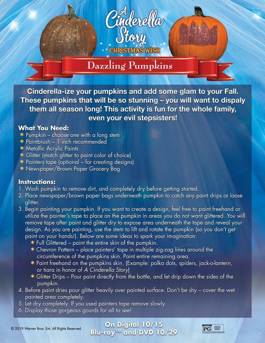 A Cinderella Story: Christmas Wish Dazzling Pumpkins