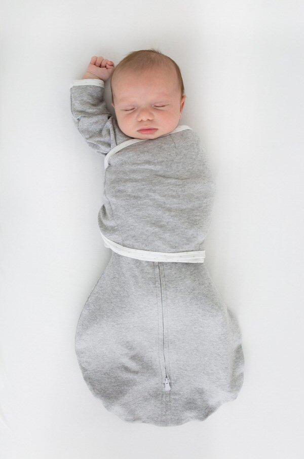heather gray omni swaddle sack