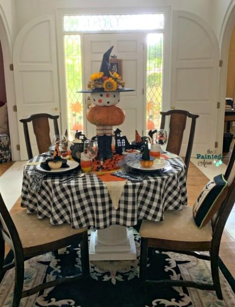 Week 250 DIY Pumpking Witch Centerpiece from The Painted Apron