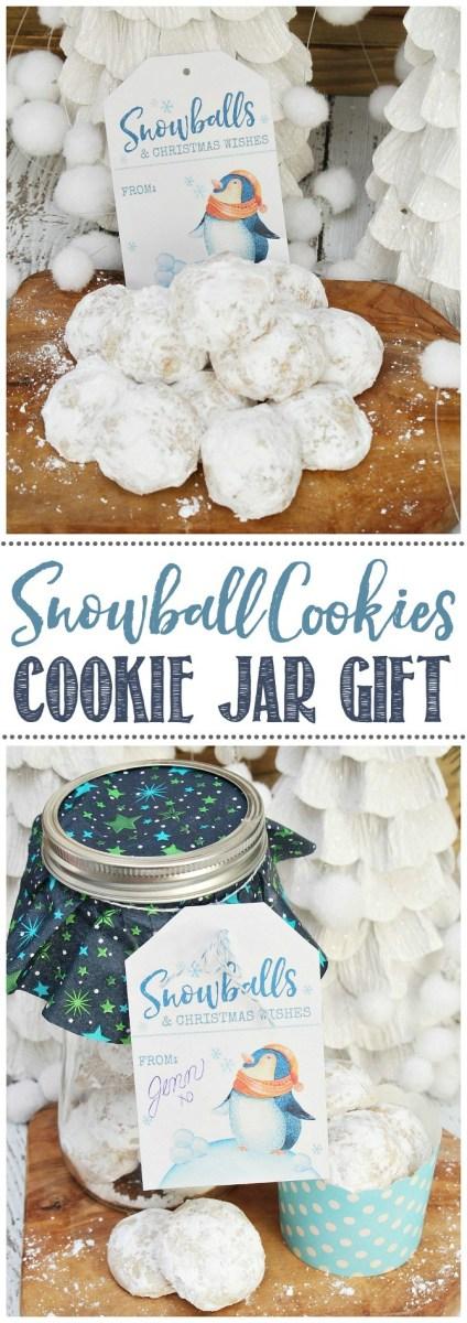 snowball cookie jar gift
